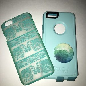 Otterbox case and Claire's case both for iPhone 6s